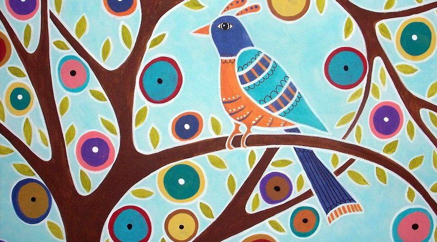 Un oiseau sur une branche