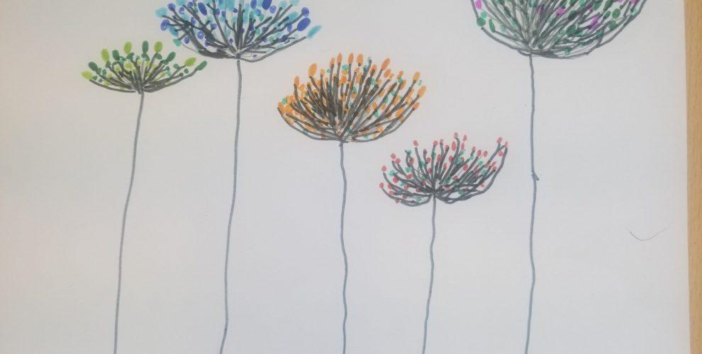Pissenlits colorés