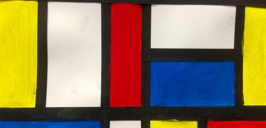 Piet Mondrian et les droites parallèles et perpendiculaires