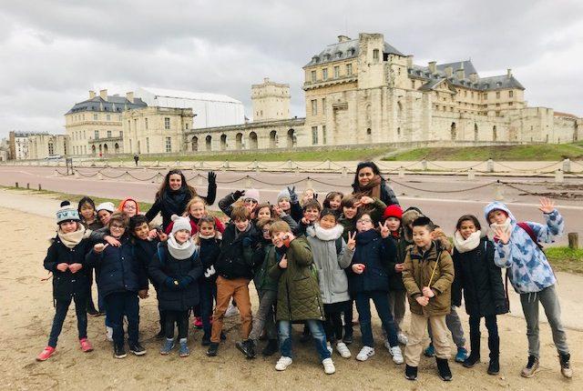 Les chevaliers de CE2 en route pour le château de Vincennes!