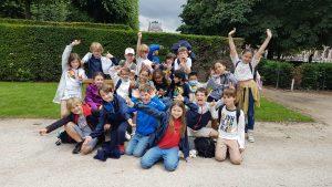 sortie de fin d'année dans les jardins des Tuileries.